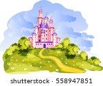 the vector illustration of tale ... | Shutterstock .eps vector #558947851