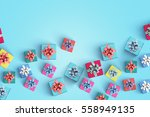 gift box on color background | Shutterstock . vector #558949135
