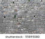 Wall Of Stones In The Church O...