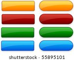 blank web color buttons. vector. | Shutterstock .eps vector #55895101