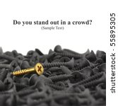 do you stand out in a crowd  ... | Shutterstock . vector #55895305