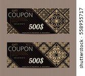 gift voucher in luxury style.... | Shutterstock .eps vector #558955717