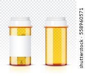 pills bottle isolated on... | Shutterstock .eps vector #558960571