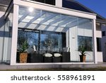 residential home with... | Shutterstock . vector #558961891