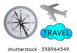concept of travel on white... | Shutterstock . vector #558964549