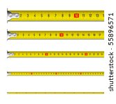 tape measure in centimeters.... | Shutterstock .eps vector #55896571