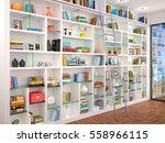 3d illustration of white...   Shutterstock . vector #558966115