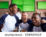 Male Friends Watching Game In...