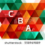 vector geometric shapes  ... | Shutterstock .eps vector #558969889
