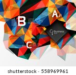 mosaic low poly abstract... | Shutterstock .eps vector #558969961