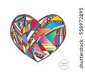 heart vector background. hand... | Shutterstock .eps vector #558972895