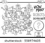 black and white cartoon... | Shutterstock .eps vector #558974605