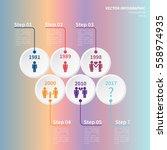 vector infographic template.... | Shutterstock .eps vector #558974935