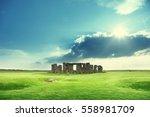 Sunny Day And Stonehenge  Uk