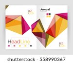 3d low poly shapes design for... | Shutterstock .eps vector #558990367