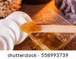 brown sugar and olive oil  body ...   Shutterstock . vector #558993739