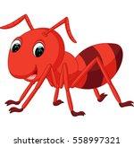 red ant cartoon | Shutterstock . vector #558997321