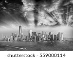 Panoramic Black White Aerial View - Fine Art prints