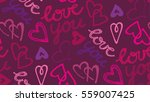 valentine's day pattern with... | Shutterstock .eps vector #559007425