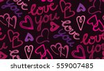 valentine's day pattern with... | Shutterstock .eps vector #559007485