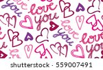 valentine's day pattern with... | Shutterstock .eps vector #559007491