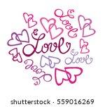 valentine's day illustration... | Shutterstock .eps vector #559016269