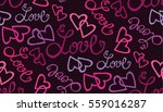 valentine's day pattern with...   Shutterstock .eps vector #559016287
