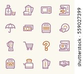 kitchen appliances web icons | Shutterstock .eps vector #559027399