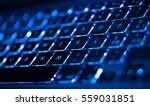 Closeup of laptop keyboard...
