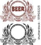 creative beer vintage design | Shutterstock .eps vector #55903225