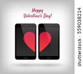happy valentines day. vector... | Shutterstock .eps vector #559038214