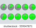 progress indicator. green round ...