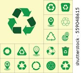 recycle icon on yellow... | Shutterstock .eps vector #559048615