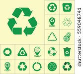 recycle icon on yellow... | Shutterstock .eps vector #559048741