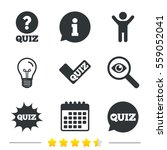 quiz icons. speech bubble with... | Shutterstock . vector #559052041