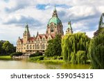 new city hall in hannover in a... | Shutterstock . vector #559054315