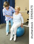 physical therapist helps a... | Shutterstock . vector #55905475