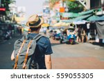 young asian traveling... | Shutterstock . vector #559055305