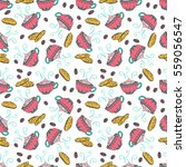 hand drawn seamless pattern... | Shutterstock .eps vector #559056547