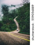 mountain roads and fog cover...   Shutterstock . vector #559056889