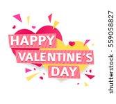 design banner for valentine's...   Shutterstock .eps vector #559058827