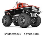 monster truck. big foot. 3d... | Shutterstock . vector #559064581