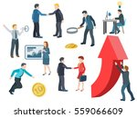 business people working. flat... | Shutterstock . vector #559066609