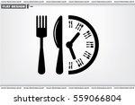 fork knife clock icon vector...   Shutterstock .eps vector #559066804