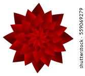 red paper flower. vector... | Shutterstock .eps vector #559069279