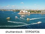 Sydney Opera House With Ferrys...