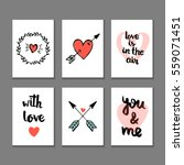 set of valentine's day cards.... | Shutterstock .eps vector #559071451