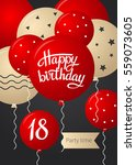 happy birthday card template... | Shutterstock .eps vector #559073605