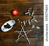 Small photo of Wiccan altar for funeral rites