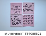 i love you word on notes... | Shutterstock . vector #559085821
